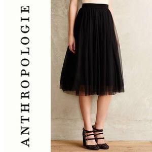 Anthropologie Bailey 44 Black Tulle Midi Skirt NWT